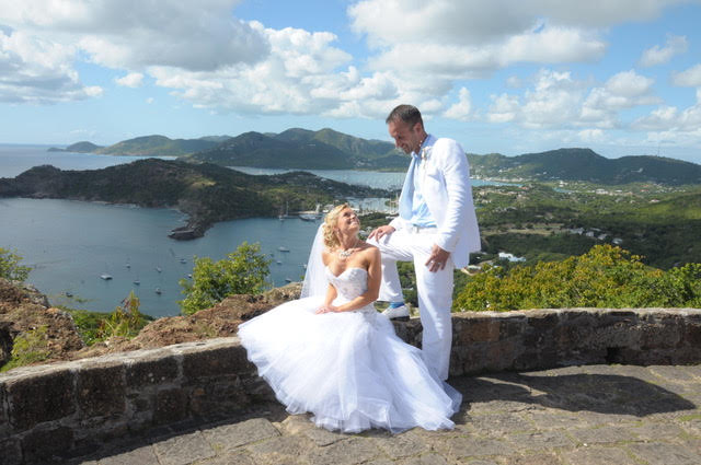 Jess and Mike's Beautiful Wedding was held in Antigua!  One day off their Royal Caribbean Cruise!