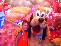 James gets friendly with Pluto!