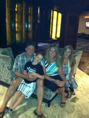 Hotz Family at the El San Juan Resort in Puerto Rico