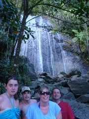 Jaeger Family at La Coca Falls, El Yunque Rainforest in Puerto Rico