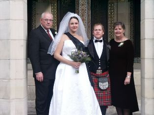 Kerri and Michael Webber wonderful wedding in Scotland!