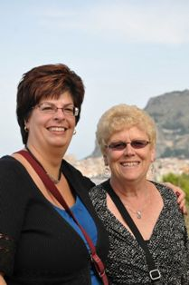 Teresa Ramsey and Cookie Brock on a European cruise they will always remember!