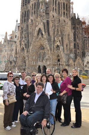 A group discovered the excitement in Barcelona!