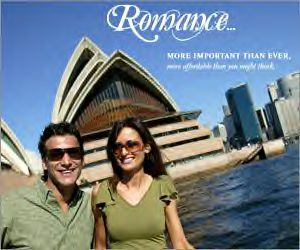 Find the romantic spots  to explore Australia